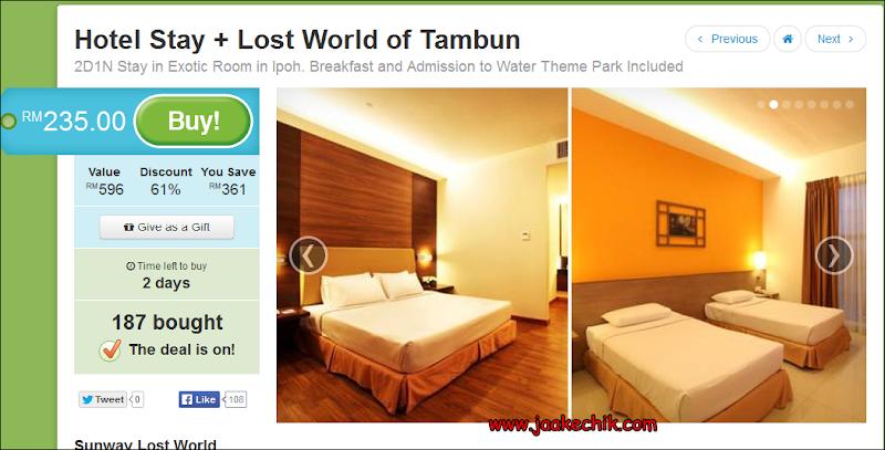 cara nak beli tiket murah, cara nak buat, Harga Tiket ke Lost World Tambun, Hotel Lost World Tambun, Tiket Murah Lost World Tambun, Website Lost World Tambun,