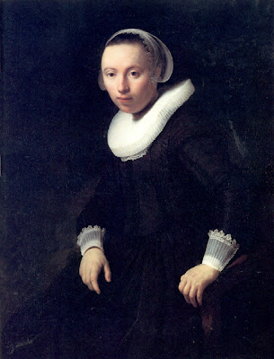 Rembrandt van Rijn  - portrait of a young woman