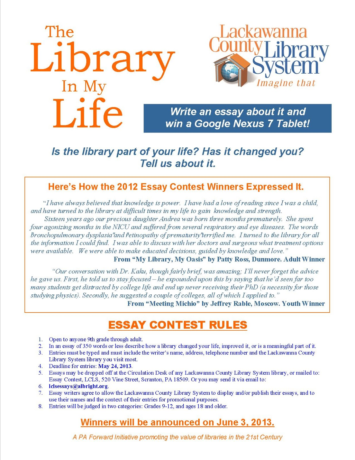 trinity college essay competition 2013