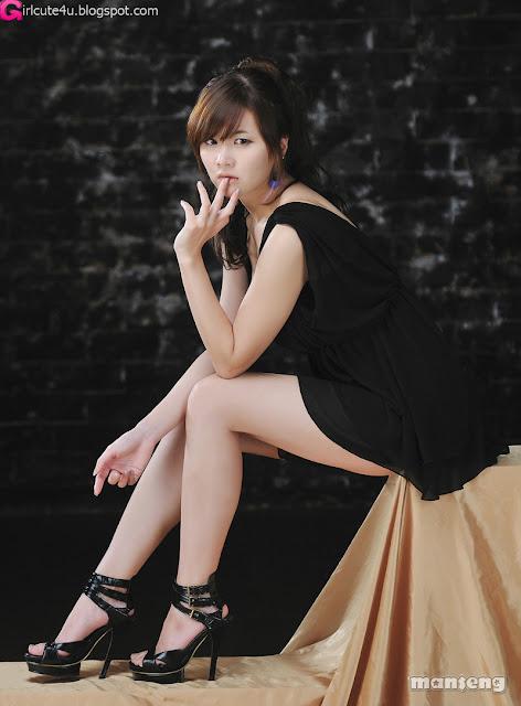5 Jung Se On - Black Mini Dress-very cute asian girl-girlcute4u.blogspot.com
