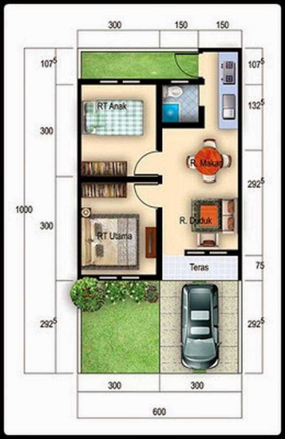model rumah type 36 sederhana menarik