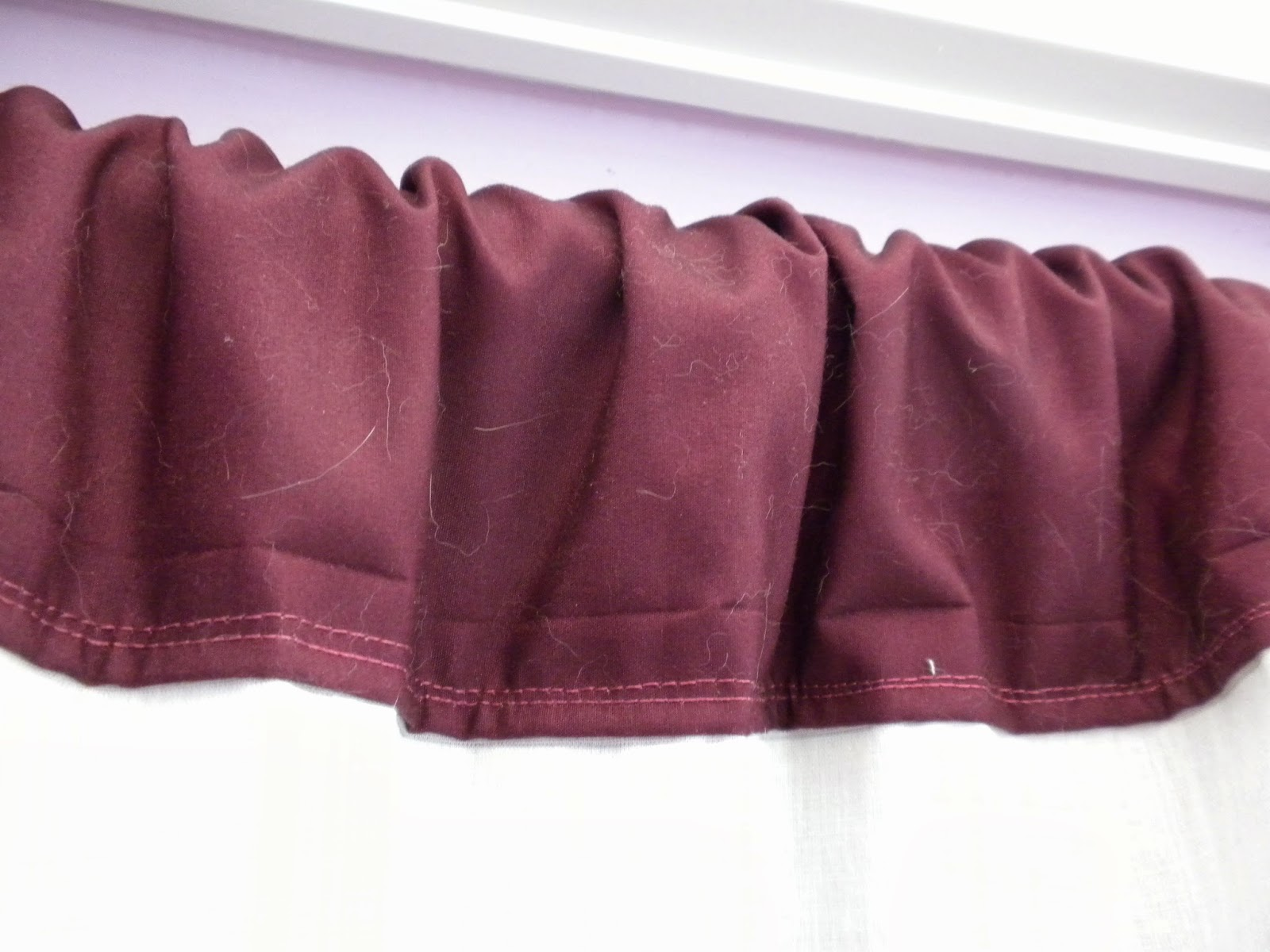 Refashioning a Bathroom Curtain by Substance of Living