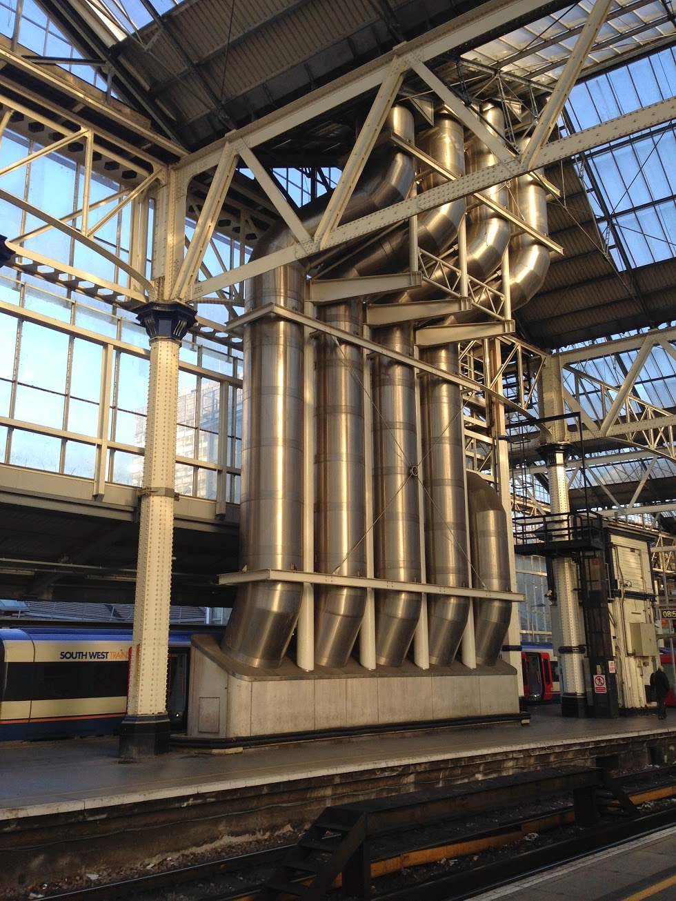 Industrial architecture, Waterloo station, London