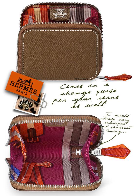 Hermes change purse in Epsom calfskin