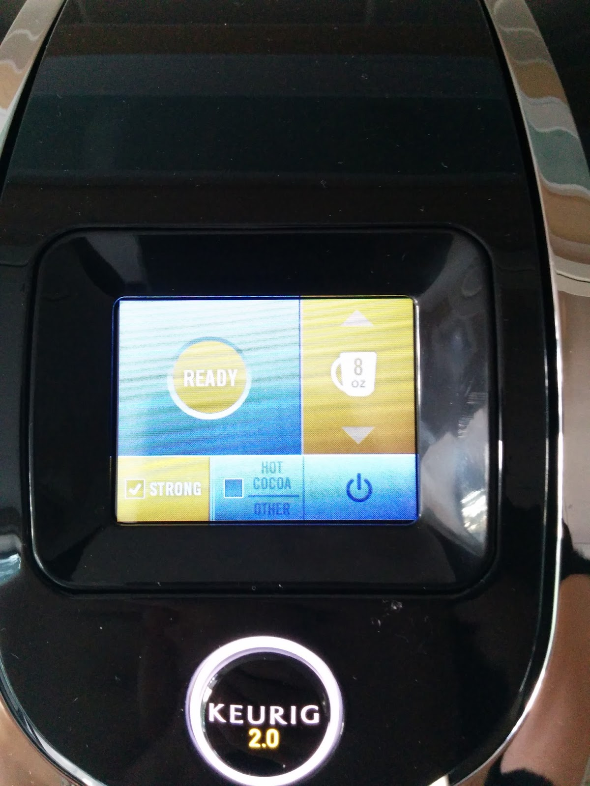 Keurig 2.0 K400 colour touch screen