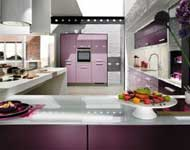 ruang dapur nuansa ungu