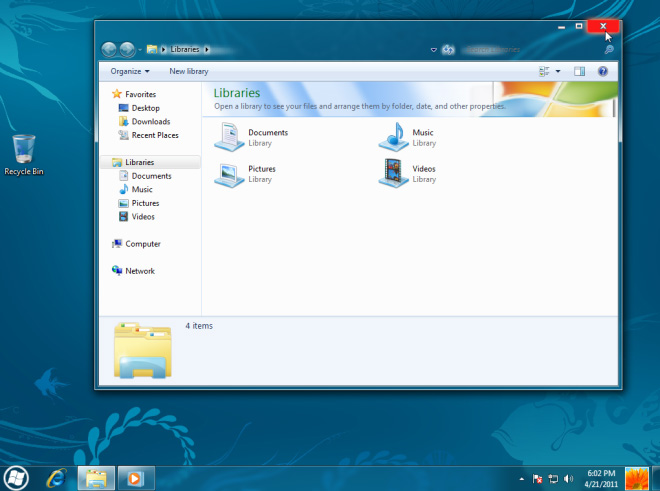 interface baru windows 8 skin pack