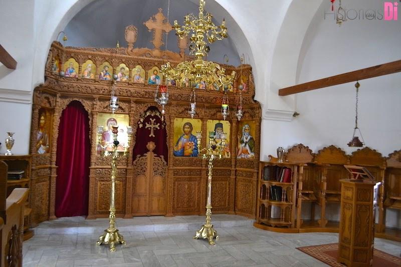 O interior da Capela Ortodoxa Cristã Grega