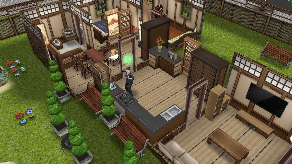 Casa retiro japones los sims freeplay for Casa de diseno the sims freeplay