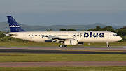 Photographed at Manchester Airport on 24 June 2010, just over a month before . (px airblueflight crashaircraft)