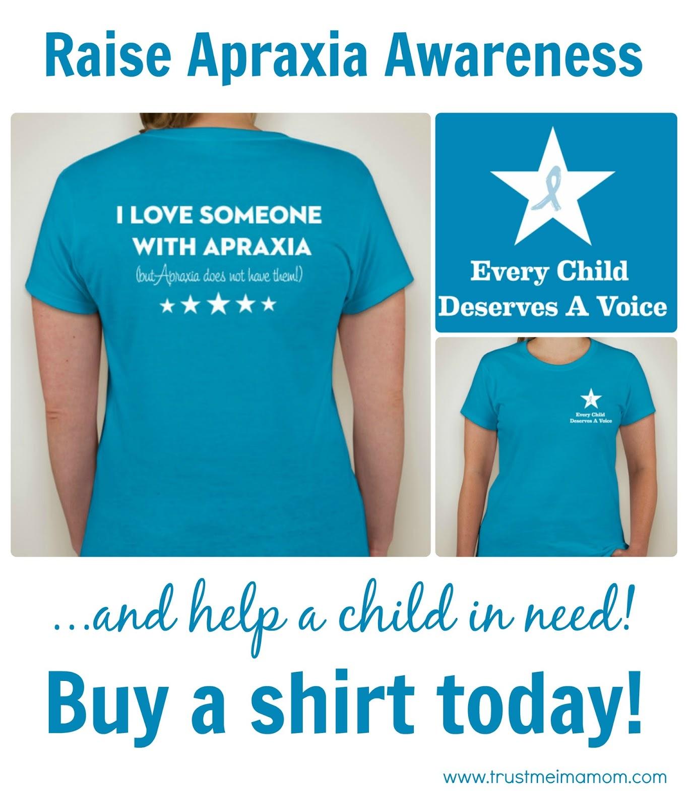 Trust Me, I'm a Mom: Raise Awareness for Apraxia Raising Awareness
