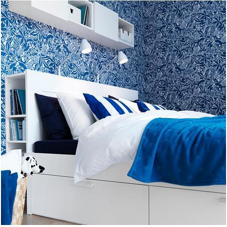 Ikea e momichan camera da letto - Letto contenitore ikea brimnes ...