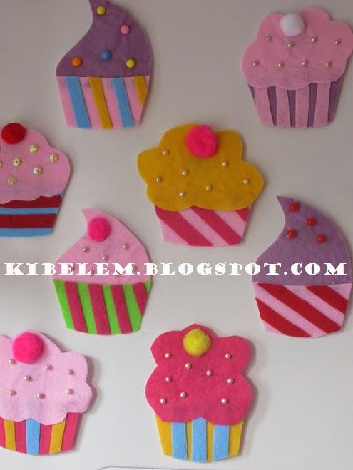 Keçe Cupcake Magnet Nasıl Hazırlanır ?