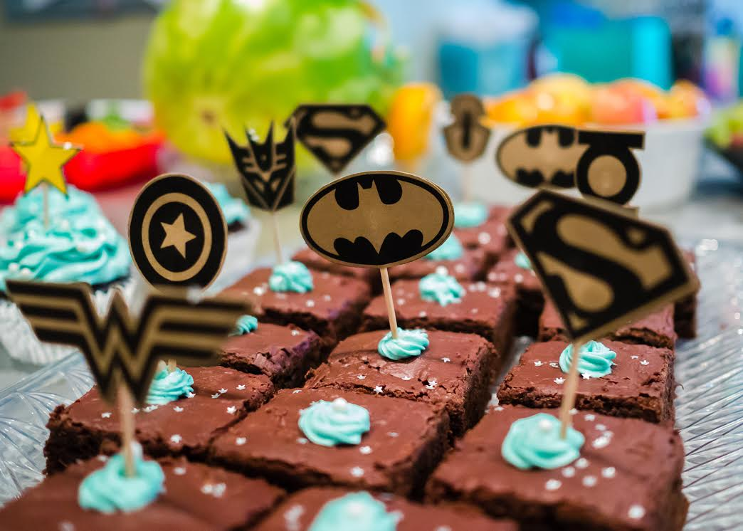 Superhero Baby Shower Themes ~ Baby shower batman baby shower decorations clares contemplations