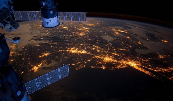 La Costa Este por la noche desde la Estación Espacial Internacional