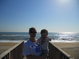 Mommy & Evelyn at the Beach!