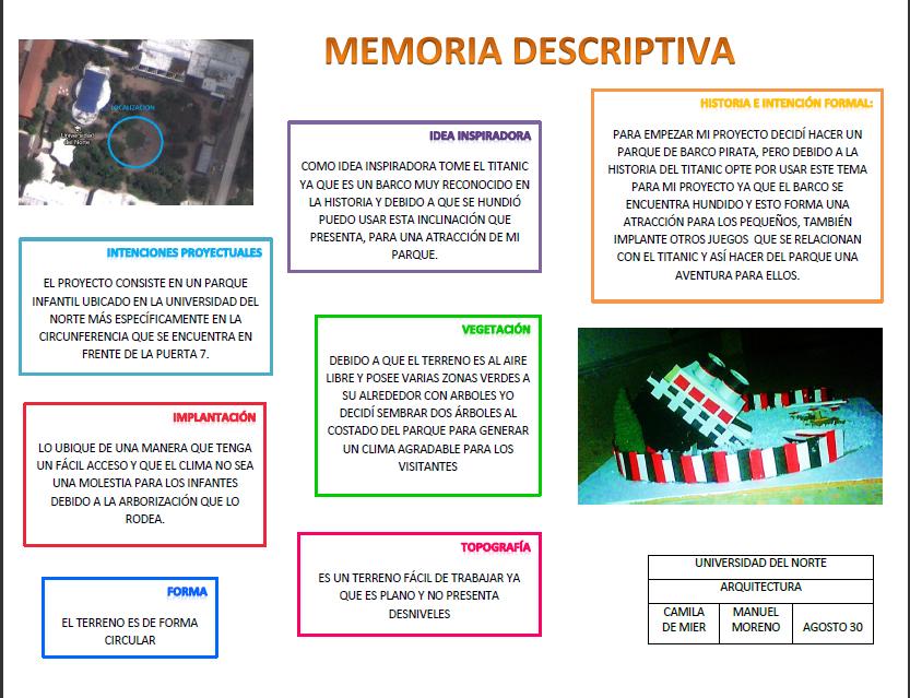 Taller de arquitectura memoria descriptiva for Memoria descriptiva arquitectura