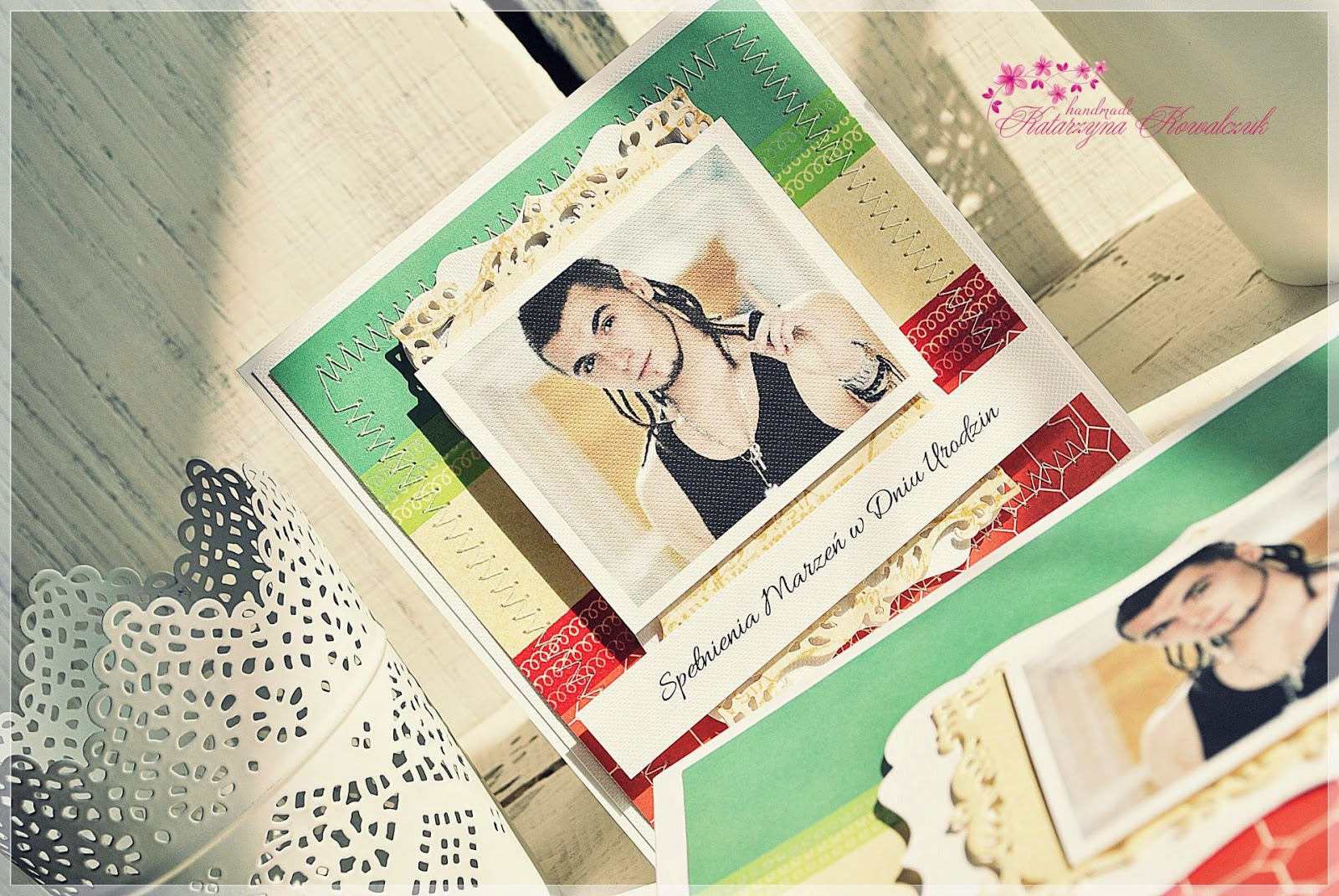 kartka urodzinowa, kamil bednarek scrapbooking, pudełko na zdjęcia