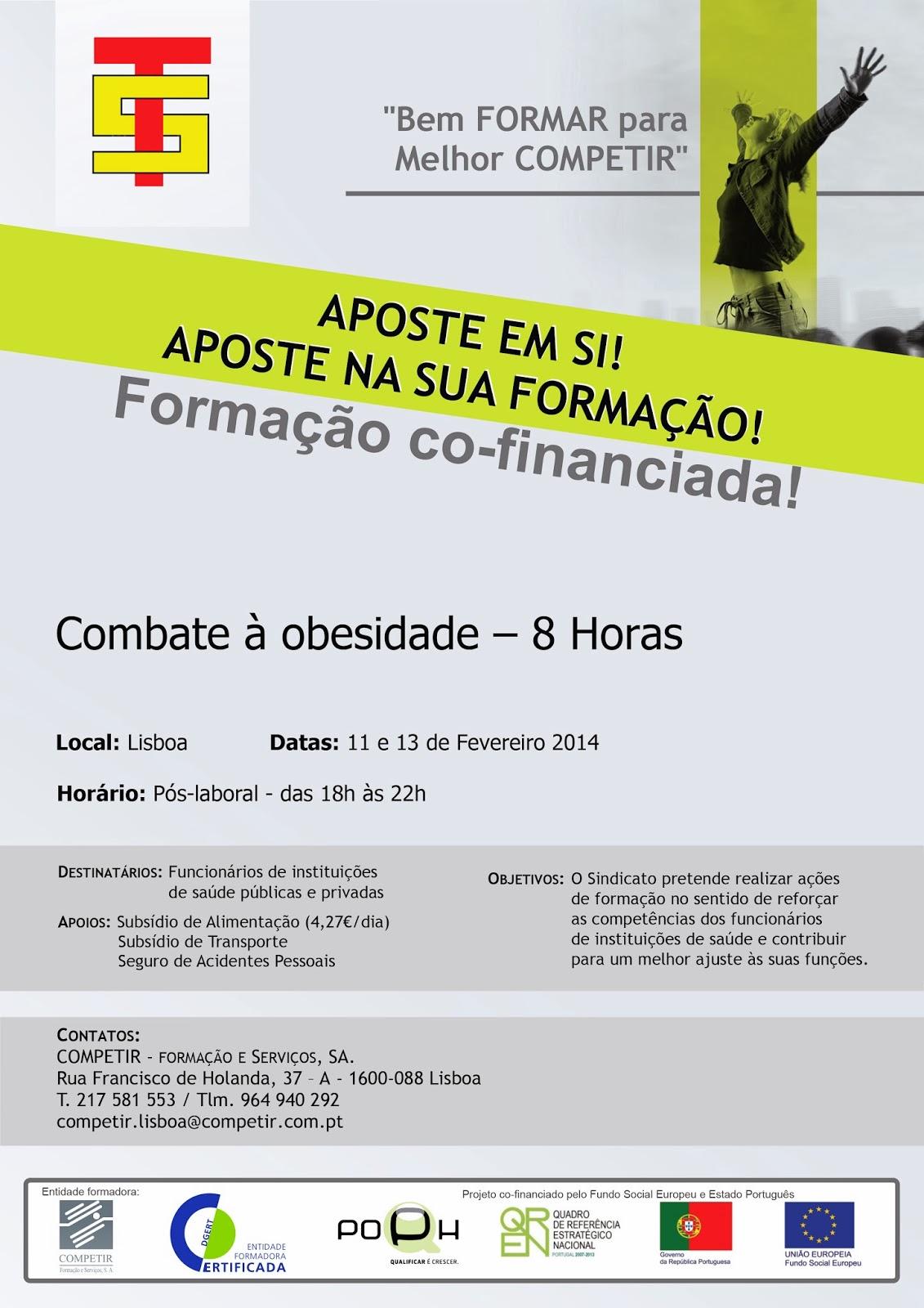Formação co-financiada: Combate à obesidade – Lisboa