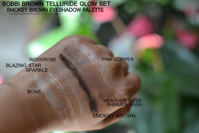 Bobbi Brown Telluride Glow Makeup Collection Smokey Brown Eyeshadow Palette Bone Blazing Star Woodrose Heather Pink Copper Indian Makeup Beauty Blog Photos Swatches
