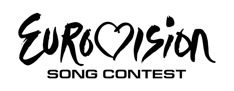 The Eurovision logo, white text on black background.
