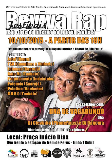 Reviva Rap e Quilombaque recebem Grupos de Rap do Interior e Litoral