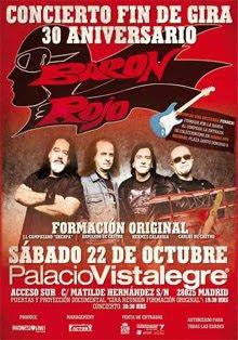 Ultimo concierto de la formación original de Barón Rojo