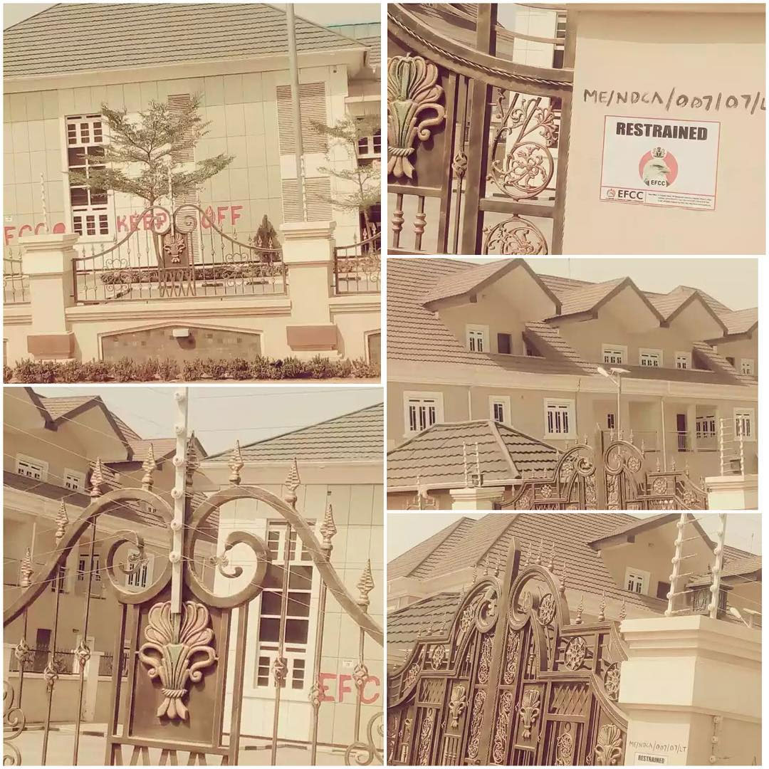 #Dasukigate: EFCC Seals Off Former COAS Ihejirika's Abuja Estate (Photos)