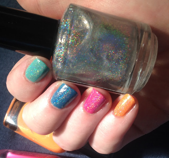 Zoya  Arizona , Lara , Breezi and Wednesday Feenix Polish Beam Me Up