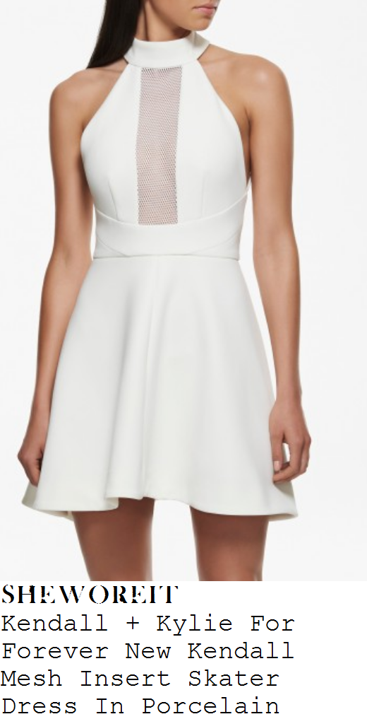 kylie-jenner-white-mesh-insert-sleeveless-skater-dress-forever-new