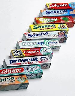 Creme dental, pasta de dentes
