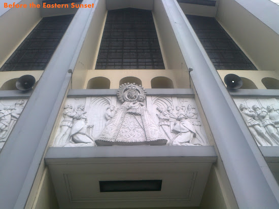 Zoom in of bas-relief on the facade of Sto. Domingo Church