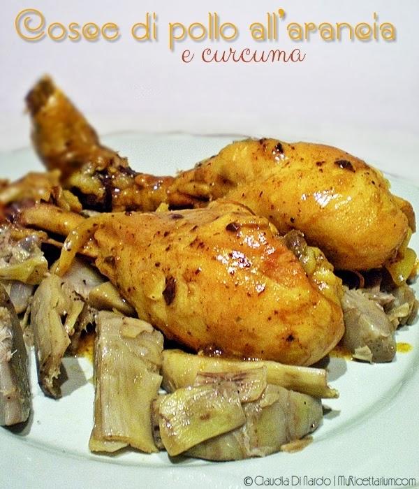 Cosce di pollo all'arancia e curcuma