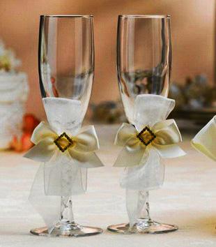 Detodomanualidades como decorar copas para bodas - Como decorar copas para boda ...