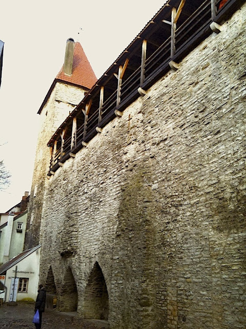 Hellemann Tower is one of the many medieval fortresses in Tallinn