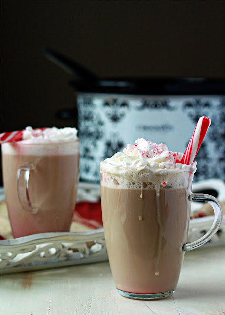 Slow Cooker Peppermint Vanilla Latte Recipe from Kitchen Treaty