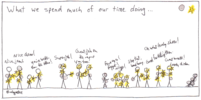 what we spend our time doing, by rob g
