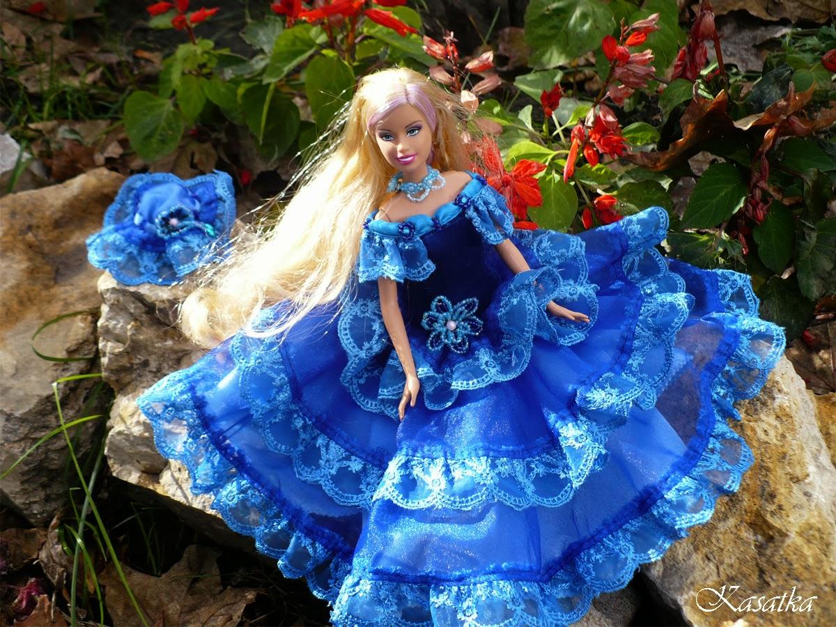 Пять нарядных платьев для Барби, шьём своими руками 70