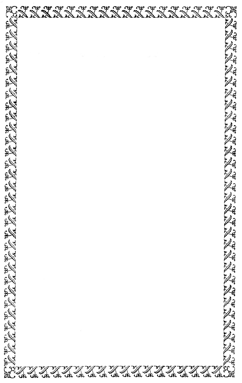 Free Digital Frame: Black Decorative Border Clip Art
