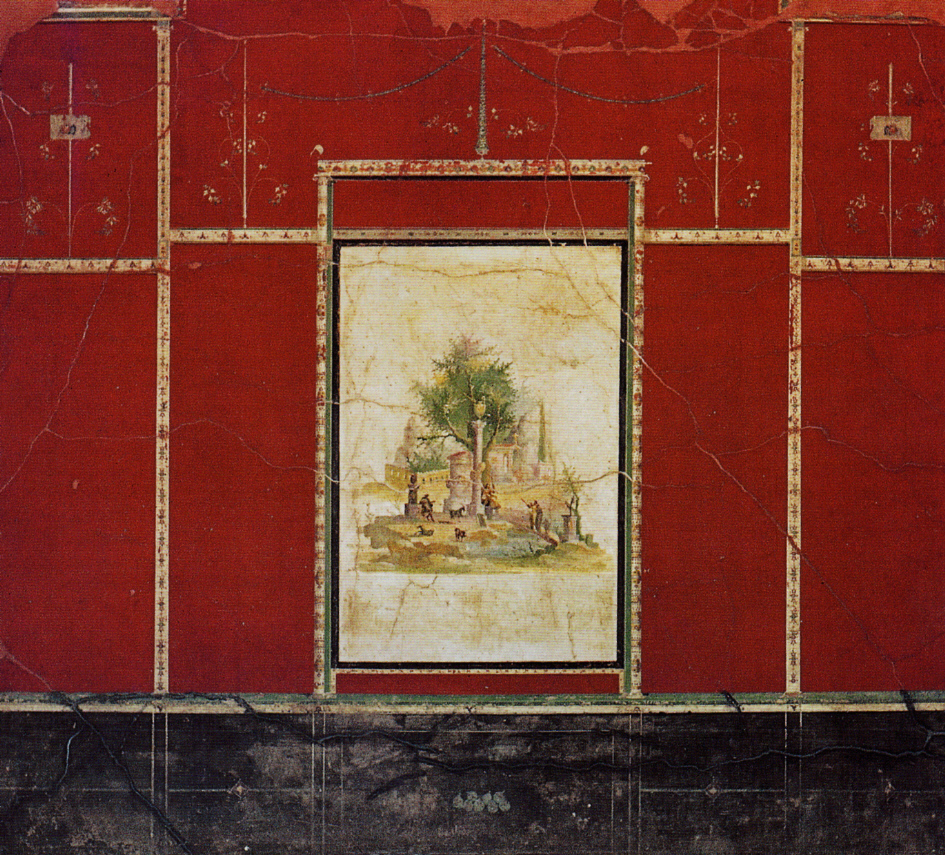 Ancient roman wall painting for Ancient mural villa