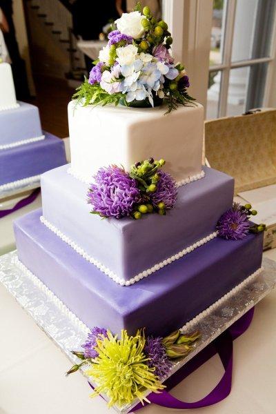 свадебный торт украшение цветами