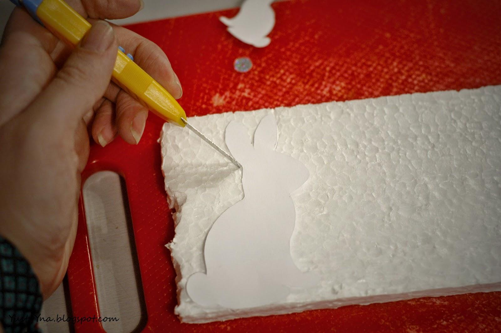 Pomysł na ozdobe wielkanocną zając - DIY
