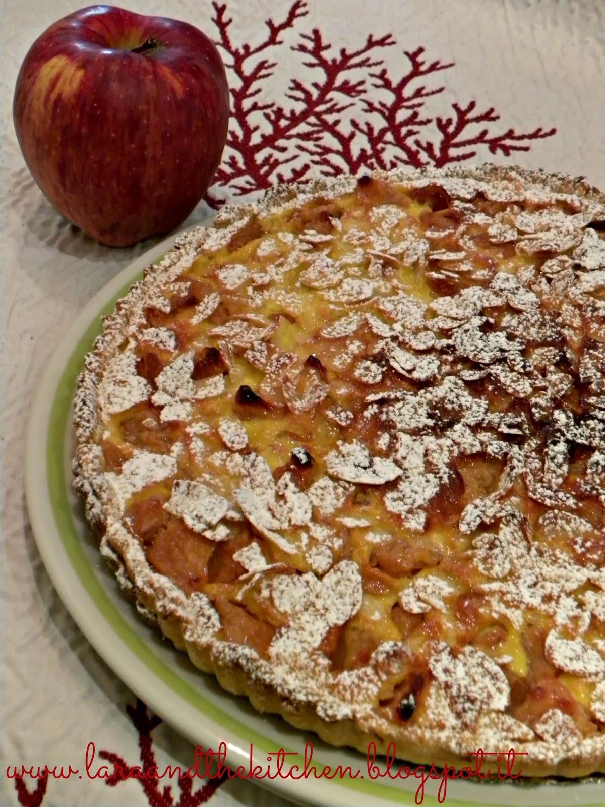 crostata di mele cremosa
