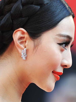 Fan Bingbing Dangling Diamond Earrings