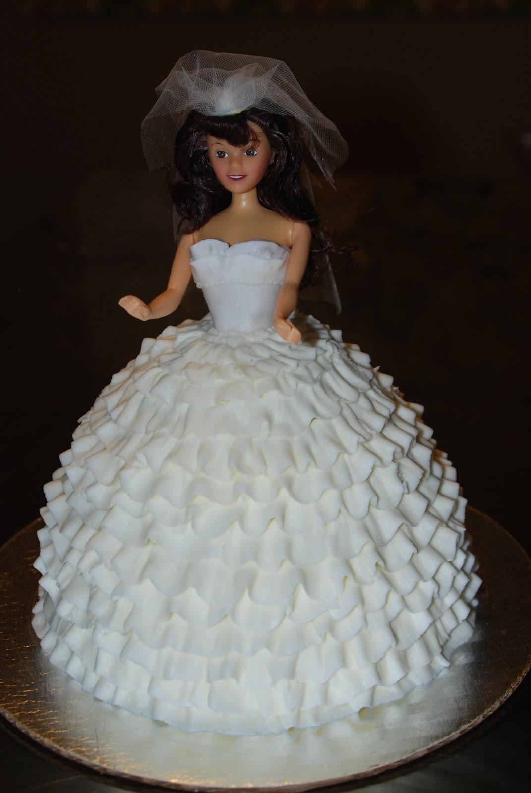 barbie bridal shower cake