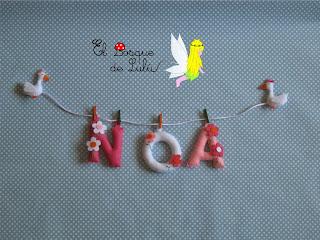 nombre-en-fieltro-Noa-name-banner-decoración-infantil
