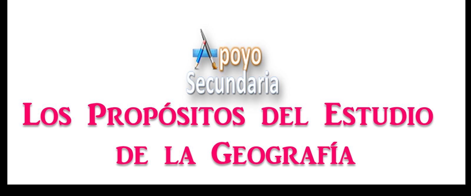 Propósitos del estudio de la geografía