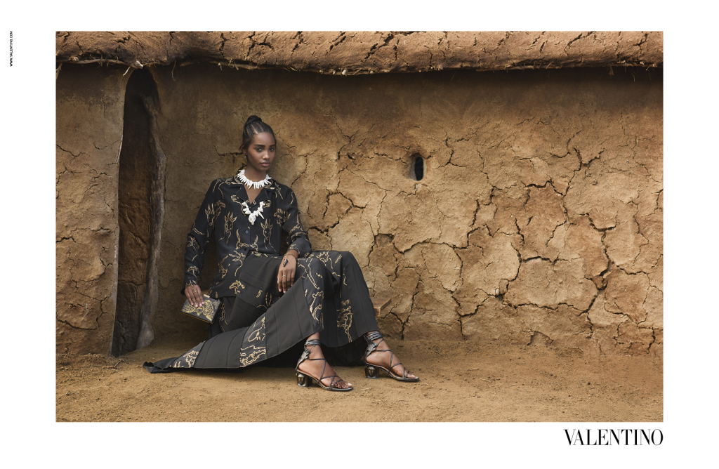 Valentino Honors Africa