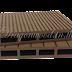 ไม้เทียม ปูพื้นแบบกลวง สีน้ำตาล ลายร่อง2หน้า กว้าง 10cm,13.5cm,14.6cm x หนา 2.5cm x ยาว 220cm,240cm,300cm