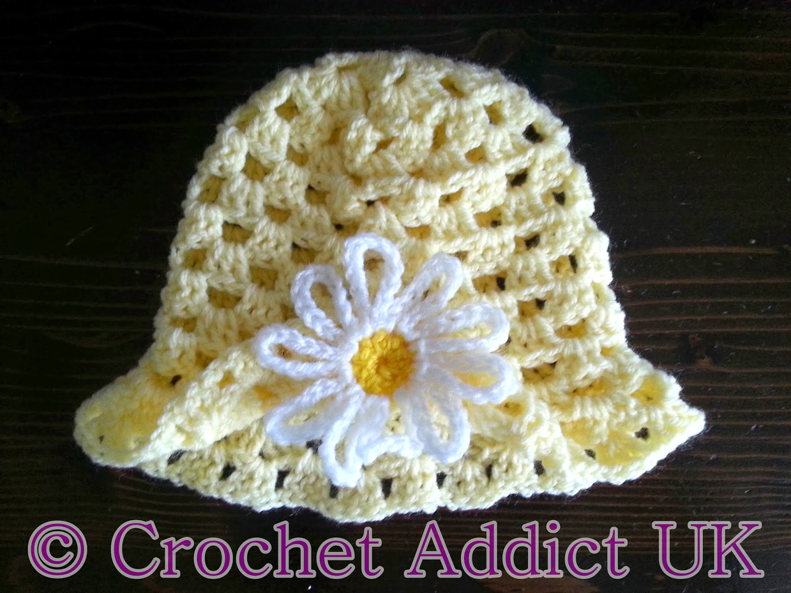 Crochet Baby Easter Hat Patterns : Free Crochet Pattern ~ Daisy Spring Easter Hat 3 - 6 ...